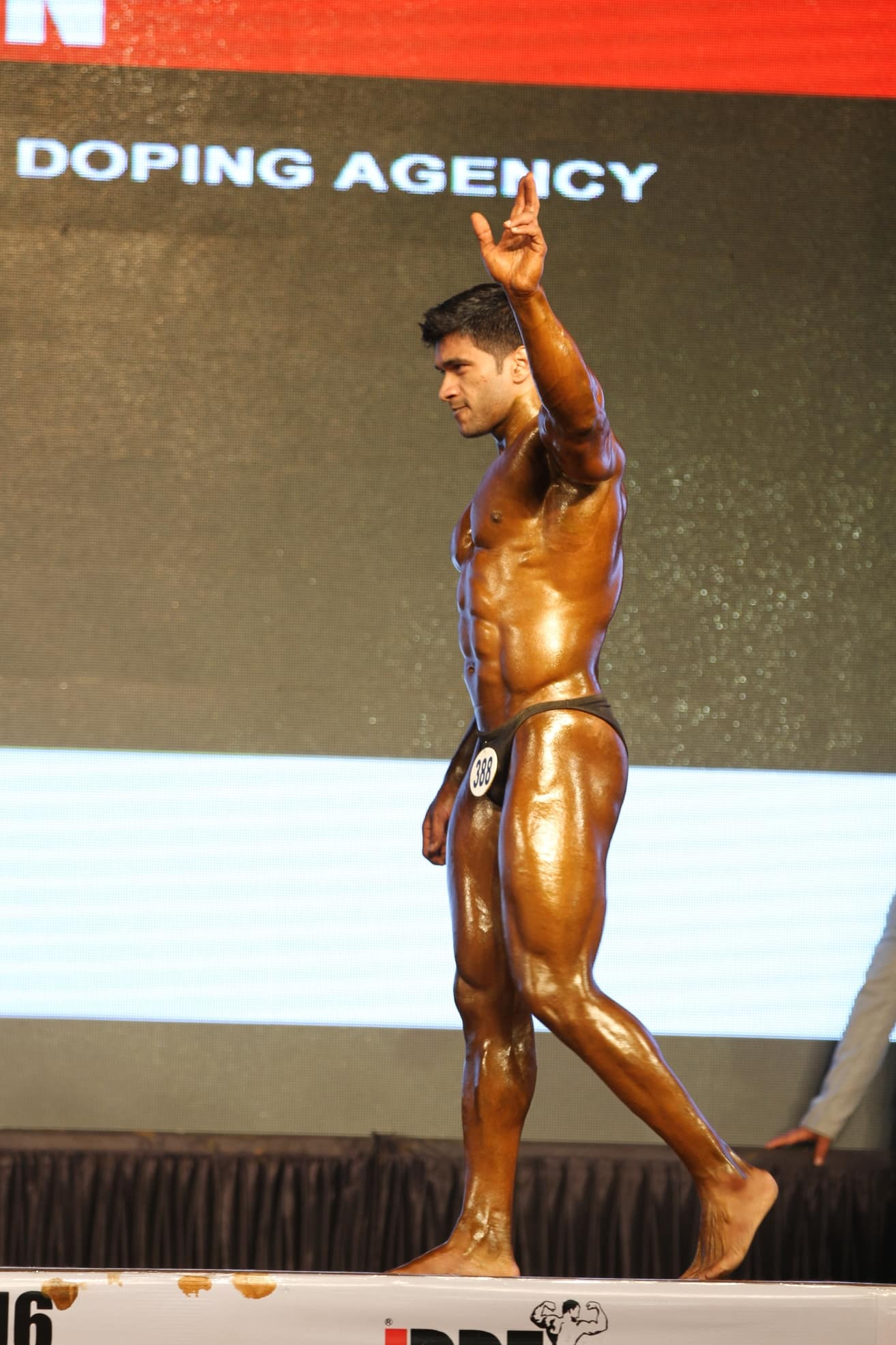 Sagar kate at bodybuilding event